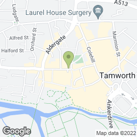 Map of Tamworth House Dental Practice in Tamworth, staffordshire