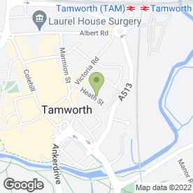 Map of Simpson Decorators in Tamworth, staffordshire