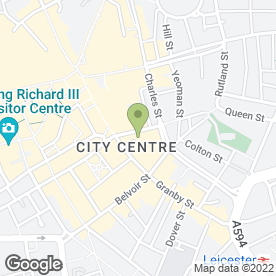 Map of Reeds Rains Estate Agents in Leicester, leicestershire