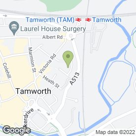 Map of SEO Beauty Nails in Tamworth, staffordshire