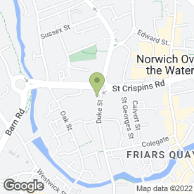 Map of City Tyres Services in Norwich, norfolk