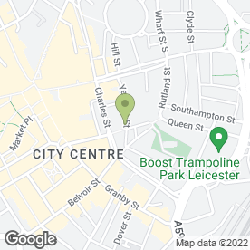 Map of 360red Productions Ltd in Leicester, leicestershire