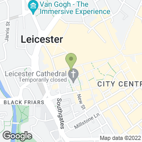 Map of Cafe Bruxelles in Leicester, leicestershire