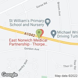 Map of Medivet Thorpe Veterinary Clinic in Thorpe St. Andrew, Norwich, norfolk