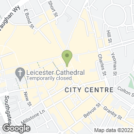 Map of Co-operative Bank plc in Leicester, leicestershire