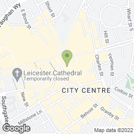 Map of Greggs in Leicester, leicestershire