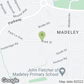 Map of Reflections in Madeley, Telford, shropshire