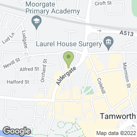 Map of Premier Blinds in Tamworth, staffordshire