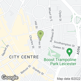 Map of The Shed Live Music Venue in Leicester, leicestershire
