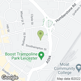 Map of Phoenix Square Film & Digital Media in Leicester, leicestershire