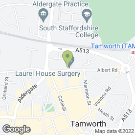Map of Mrs Sue Pike BSc (hons) in Tamworth, staffordshire