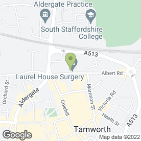 Map of Footsteps Podiatry & Chiropody Clinic in Tamworth, staffordshire