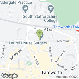 Map of Footsteps Podiatry (Chiropody) Clinic in TAMWORTH, staffordshire