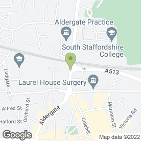 Map of Co-operative Funeral Services (Tamworth) in Tamworth, staffordshire