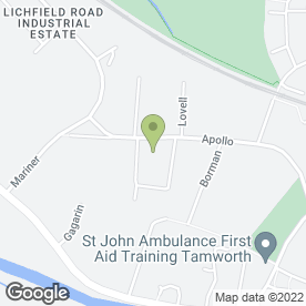 Map of Simply Stylish Sofas in Tamworth, staffordshire