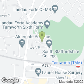 Map of South Staffordshire College in TAMWORTH, staffordshire