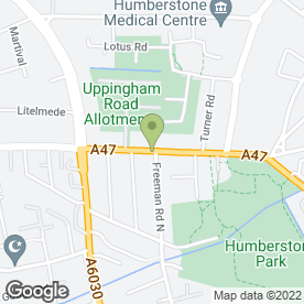 Map of Hong Kong Restaurant in Leicester, leicestershire