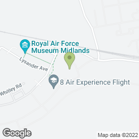 Map of RAF Museum in Shifnal, shropshire