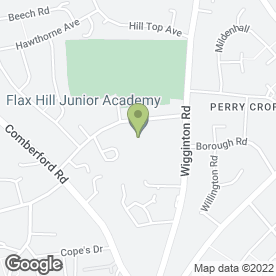 Map of Flaxhill Junior School in Tamworth, staffordshire