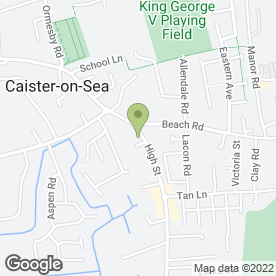 Map of Chamberlins in Caister-On-Sea, Great Yarmouth, norfolk