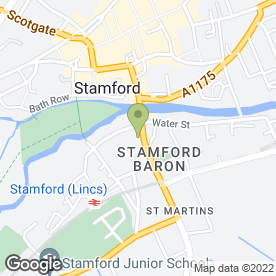Map of George Hotel of Stamford in St. Martins, Stamford, lincolnshire