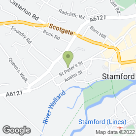 Map of STAMFORD BATHROOMS in Stamford, lincolnshire