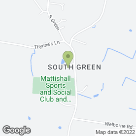 Map of SOUTH GREEN PARK LTD in Mattishall, Dereham, norfolk