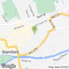 Map of Anne Stephens Stamford Foot Health Practice in Stamford, lincolnshire