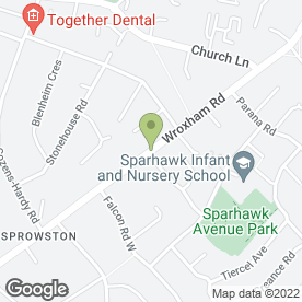 Map of Wroxham Road P.O in Norwich, norfolk