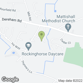 Map of Signed By Me in Mattishall, Dereham, norfolk