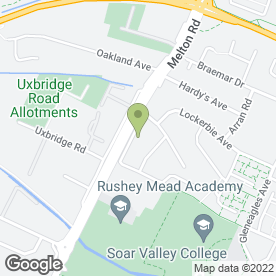 Map of Rushey Mead Secondary School in Leicester, leicestershire