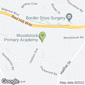 Map of Woodstock Primary School in Leicester, leicestershire