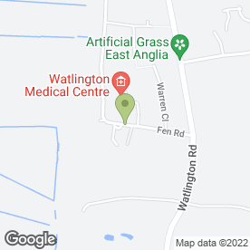 Map of Officescape Business Interiors LLP in Watlington, King's Lynn, norfolk