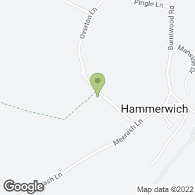 Map of Kevin Woods Plant Hire in Hammerwich, Burntwood, staffordshire