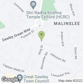 Map of Dawley Dental Practice in Dawley, Telford, shropshire