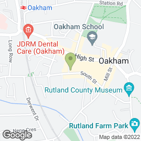 Map of Lalique in Oakham, rutland