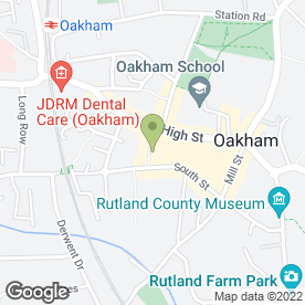 Map of Moat House Furnishings in Oakham, rutland