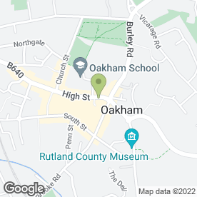 Map of Barclays Bank plc in Oakham, rutland