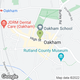 Map of Body & Soul in Oakham, rutland