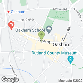 Map of Pollen in Oakham, rutland