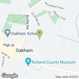 Map of Contours in Oakham, rutland