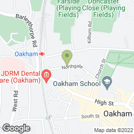 Map of Dizzy Dog Balloon Co in Oakham, rutland