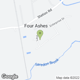 Map of A.A Fire & Security Ltd in Four Ashes, Wolverhampton, west midlands
