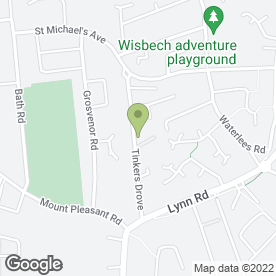 Map of Mervyn Green in Wisbech, cambridgeshire
