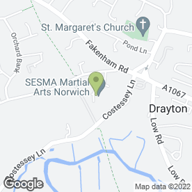 Map of DRAYTON TYRE & BATTERY in Drayton, Norwich, norfolk
