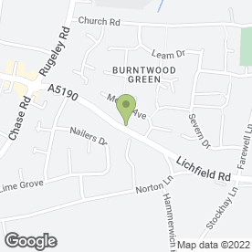 Map of PAMELA in Burntwood, staffordshire
