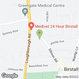 Map of Medivet Birstall Borrajo's Veterinary Clinics in Leicester, leicestershire