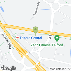 Map of Martin Kaye Solicitors in Town Centre, Telford, shropshire