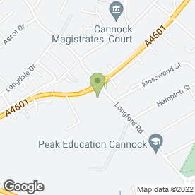 Map of National Tyres and Autocare in Cannock, staffordshire