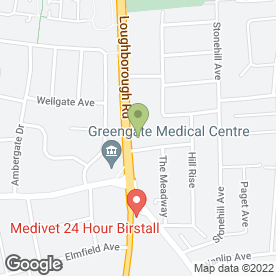 Map of Dolphin Exhaust Centre Ltd in Birstall, Leicester, leicestershire